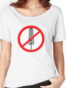 Anti-Fracking Symbol Women's Relaxed Fit T-Shirt