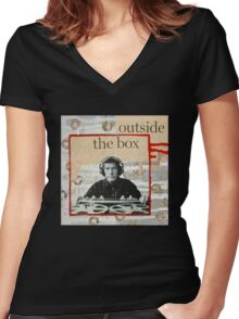 Outside The Box Women's Fitted V-Neck T-Shirt