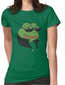Cool Pepe t-shirt - Pepe the Frog Womens Fitted T-Shirt