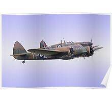 Spitfire And Blenheim Duxford  2015 - 2 Poster