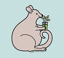 Drink Your Greens Little Wallaby! by zoel