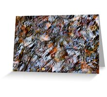 'Stream Abstract' Greeting Card