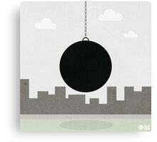 black wrecking ball Canvas Print
