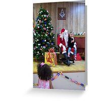 Alki Lodge Santa 2285 Greeting Card