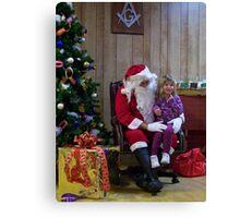 Alki Lodge Santa 2295 Canvas Print
