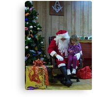 Alki Lodge Santa 2296 Canvas Print