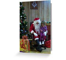 Alki Lodge Santa 2296 Greeting Card