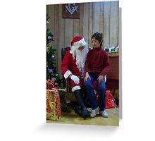 Alki Lodge Santa 2301 Greeting Card
