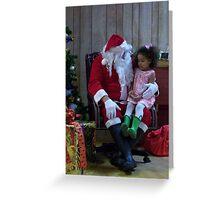 Alki Lodge Santa 2308 Greeting Card
