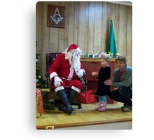 Alki Lodge Santa 2281 Canvas Print