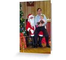 Alki Lodge Santa 2336 Greeting Card