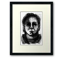 "Halloween ""I am the darkness"" Framed Print"