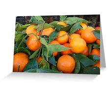 Oranges anyone for oranges... Corfu has loads!! Greeting Card