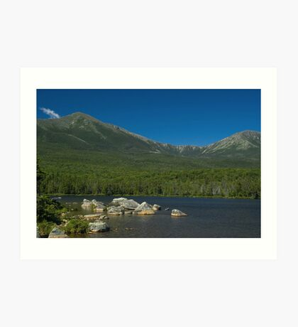 Mt. Katahdin from Sandy Stream Pond Art Print
