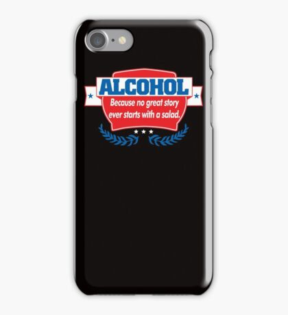 Funny Alcohol Salad T-Shirt Comedy Tees Humor Vintage iPhone Case/Skin