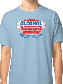 Funny Alcohol Salad T-Shirt Comedy Tees Humor Vintage Classic T-Shirt