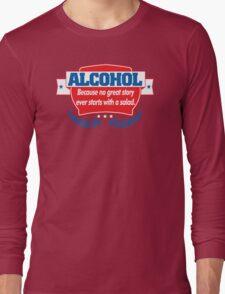 Funny Alcohol Salad T-Shirt Comedy Tees Humor Vintage Long Sleeve T-Shirt