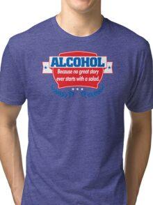 Funny Alcohol Salad T-Shirt Comedy Tees Humor Vintage Tri-blend T-Shirt