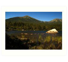 Mt. Katahdin from Sandy Stream Pond Art Print