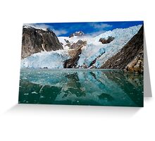 Northwestern Glacier Reflected Greeting Card