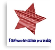 Reality Focus Canvas Print