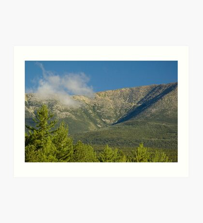 Close up of Mt. Katahdin Art Print