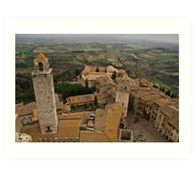 Wine Country from Above Art Print