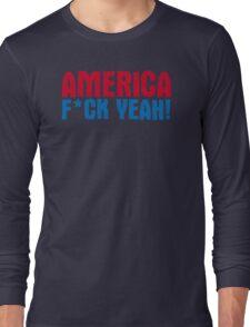 America Yeah Funny TShirt Epic T-shirt Humor Tees Cool Tee Long Sleeve T-Shirt