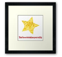 Reality Focus Framed Print