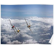 P51 Mustang Tailchase - Duxford - 2015 Poster