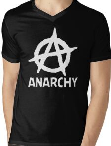 Anarchy Funny TShirt Epic T-shirt Humor Tees Cool Tee Mens V-Neck T-Shirt
