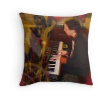 emmett on piano Throw Pillow