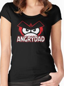 Angry Dad Funny TShirt Epic T-shirt Humor Tees Cool Tee Women's Fitted Scoop T-Shirt