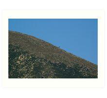 Mt. Katahdin- Moon like Art Print