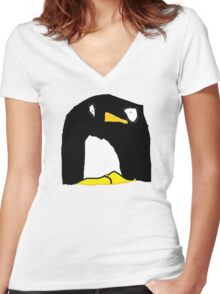 Dave the Penguin Women's Fitted V-Neck T-Shirt