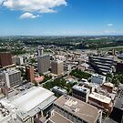 Arial view of Calgary facing North East by Lisa Knechtel