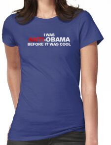 Anti Obama Cool Funny TShirt Epic T-shirt Humor Tees Cool Tee Womens Fitted T-Shirt