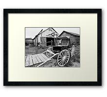 Old Buggy Framed Print