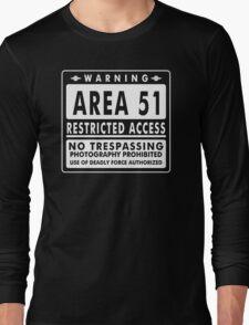 Area 51 Funny TShirt Epic T-shirt Humor Tees Cool Tee Long Sleeve T-Shirt