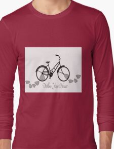 Follow Your Heart - Bicycle Long Sleeve T-Shirt