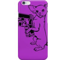 Armed Chihuahua Funny TShirt Epic T-shirt Humor Tees Cool Tee iPhone Case/Skin