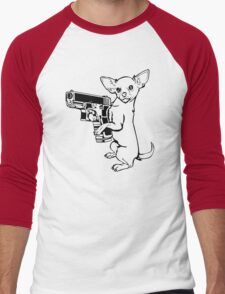 Armed Chihuahua Funny TShirt Epic T-shirt Humor Tees Cool Tee Men's Baseball ¾ T-Shirt