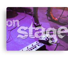 On Stage - Poster Metal Print