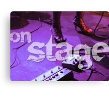 On Stage - Poster Canvas Print