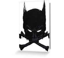 Batman Skull Greeting Card