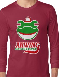 Arwing Service and Repair Funny TShirt Epic T-shirt Humor Tees Cool Tee Long Sleeve T-Shirt