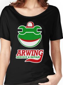 Arwing Service and Repair Funny TShirt Epic T-shirt Humor Tees Cool Tee Women's Relaxed Fit T-Shirt