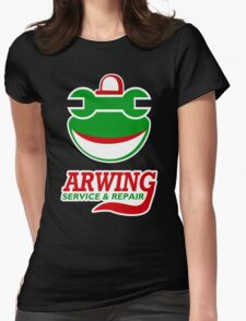 Arwing Service and Repair Funny TShirt Epic T-shirt Humor Tees Cool Tee Womens Fitted T-Shirt