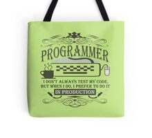 Production Programmer Tote Bag