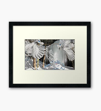 Dance of the Snow Dragons Framed Print